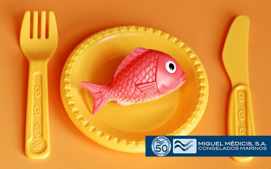 Consejos sobre pescado y marisco para los niños